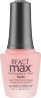 morgan taylor reactmax satin nail strengthener and base cosmetics makeup