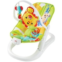 fisher price rainforest friends fun n fold bouncer pram stroller