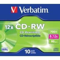 verbatim 12x cd rw 10 pack in jewel cases computer