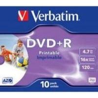 verbatim azo printable 16x dvdr 10 pack in jewel cases computer