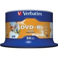 verbatim printable 16x dvd r 50 pack on spindle computer