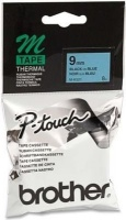 brother m k521b p touch non laminated tape black on blue labeling system
