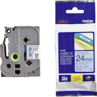 brother tz 551 p touch laminated tape black on blue labeling system