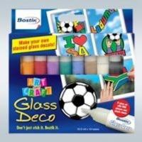 bostik glass deco 10 colours school supply