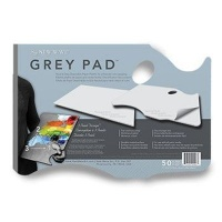 new wave grey pad hand held disposable paper palette art supply
