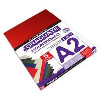 daler rowney graduate mountboard a2 assorted 5 pack