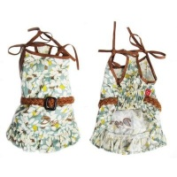 dogs life summer beach dress with belt green extra small clothe