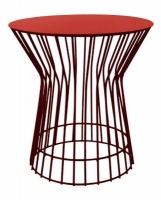 fundi living drum side table red living room furniture