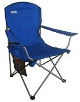 bushtec oversized folding chair blue 110kg camping
