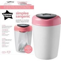 tommee tippee sangenic simplee tub pink bag