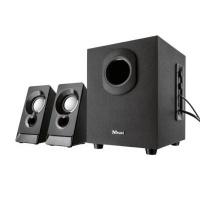 trust argo 21 channel subwoofer speaker set 9w black computer
