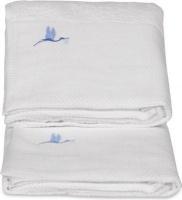 bebedeparis baby towels set of 2 large and medium white bath potty