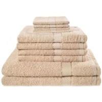 10 piece luxury towel bale set with ribbon sand bath towel
