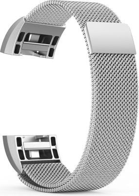 Linxure Milanese Strap for the Fitbit Charge 2 Silver Large