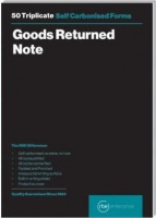 rbe a5 goods return note triplicate pads of 3 other