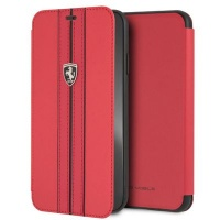 Ferrari Pu Leather Flip Case iPhone XS MAX Red