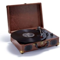 big ben leather suitcase turntable media player accessory