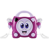 big ben kids portable karaoke cd player with 2 microphones media player accessory