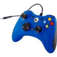 nacon vibrating gaming controller blue computer