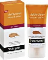 neutrogena visibly clear correct and perfect cream medium cosmetics makeup
