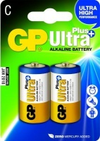 gp ultra plus alkaline c cell 2 pack battery
