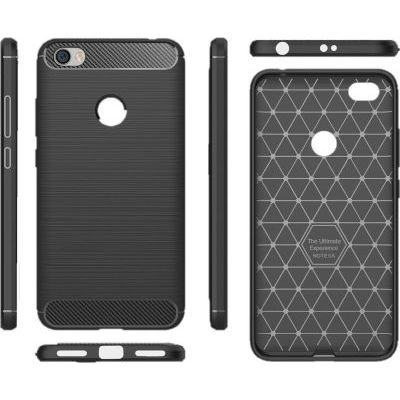 Photo of Tuff Luv Tuff-Luv Brushed and Carbon Fiber Effect Shockproof Shell Case for Samsung Galaxy A6 Plus