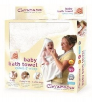 clevamama splash and wrap bath towel cream bath potty