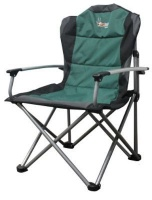 afritrail sable deluxe padded solid arm folding chair camping