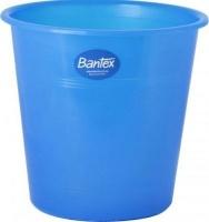 bantex translucent pp round waste paper bin 10l blue school supply