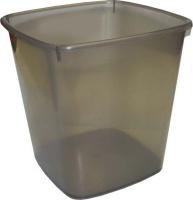 bantex translucent pp square waste paper bin 20l smokey school supply