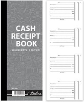 treeline numbered cash receipt book 4 to view in duplicate office machine