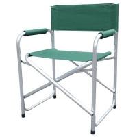bushtec aluminium directors chair oversize 130kg green camping