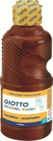 giotto school paint bottle 250ml brown arts craft