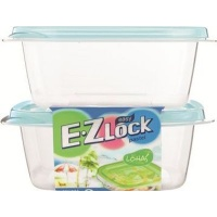 ez lock square container 610ml 2 piece blue other kitchen appliance