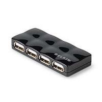 Belkin Hi Speed USB 20 4 Port Mobile Hub Black
