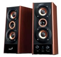 genius hf800a 3 way hi fi wood speakers 20 watts
