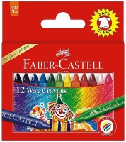 faber castell 12 slim wax crayons crayon
