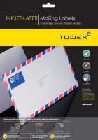 Tower W115 Mailing Inkjet Laser Labels Box of 100 Sheets