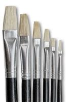 Dala 577 Flat Pure Bristle Paint Brush Set of 6 Brushes