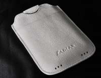 luxa2 pocket case for iphone 4 white leather
