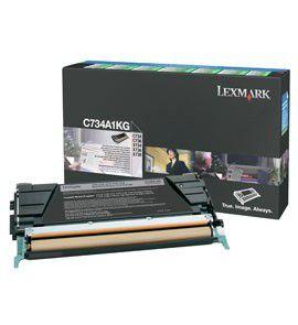Photo of Lexmark C734A1KG Black Laser Toner Cartridge