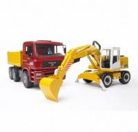Bruder MAN TGA Construction Truck with Liebherr Excavator