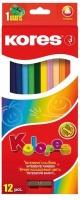 kores kolores 12 triangular coloured pencils and 1 pencil sharpener