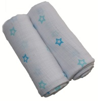 sugardots starry night muslin blankets set of 2 blanket