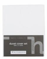 Whitehouse 205TC Pure Cotton Duvet Cover Set With Studs White