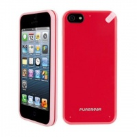 puregear slim shell case for iphone 55s redpink