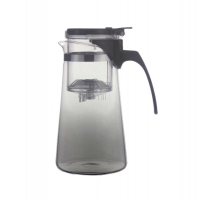 Multifunctional Glass Teapot With Tea Infuser Steep Chamber 650ml
