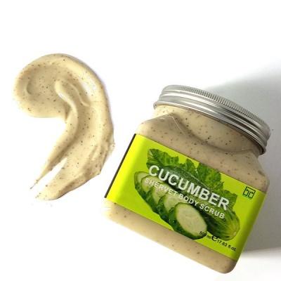 BUFFTEE Cucumber Body Scrub Face Scrub Skin scrub Large 500ml Tub