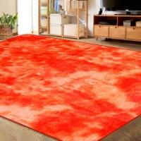 150 x 200cm Plush Fluffy Carpet Shaggy Foldable Rugs Two Tone Orange