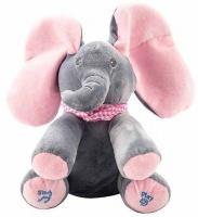 Peek a Boo Elephant Stuffed Doll Animated Plush Toy